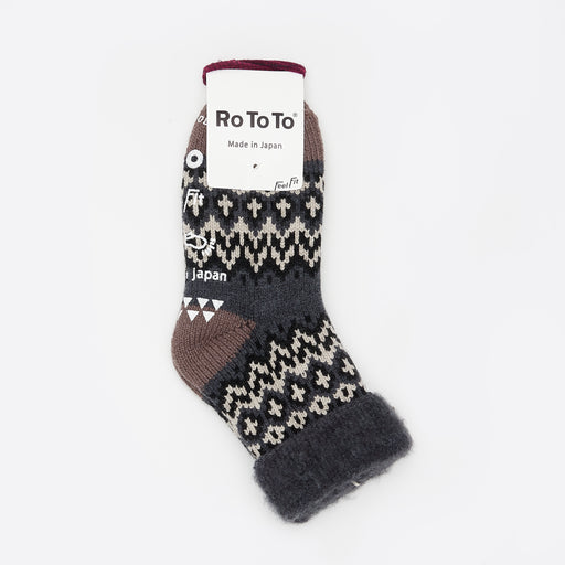 RoToTo Comfy Room Socks in Charcoal