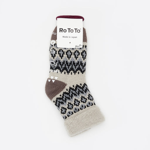 RoToTo Comfy Room Socks in Ivory