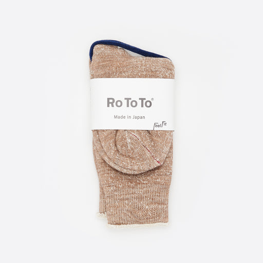 RoToTo Double Face Merino Socks Camel