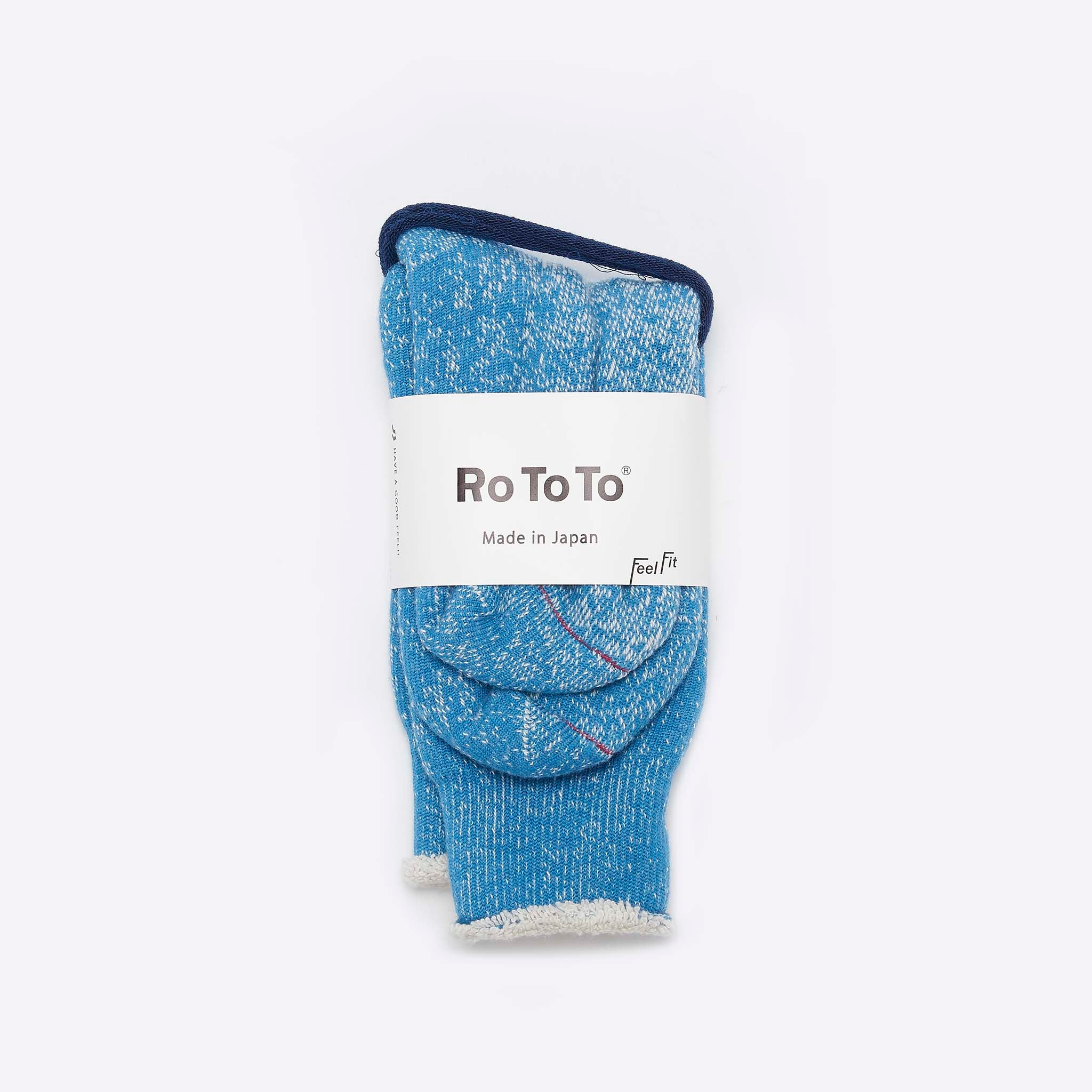 RoToTo Double Face Merino Socks Blue