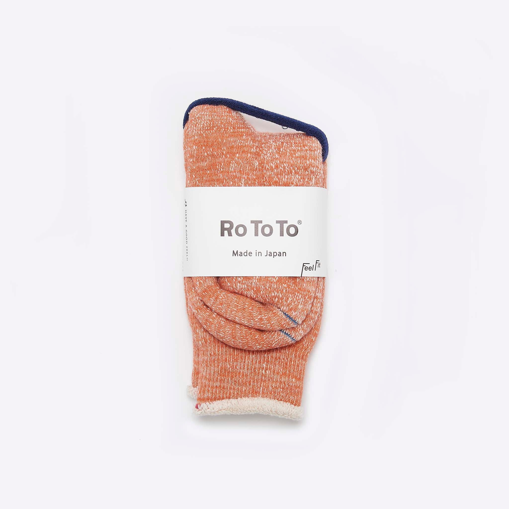 RoToTo Double Face Merino Socks Orange