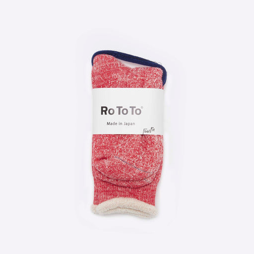 RoToTo Double Face Merino Socks Vivid Red