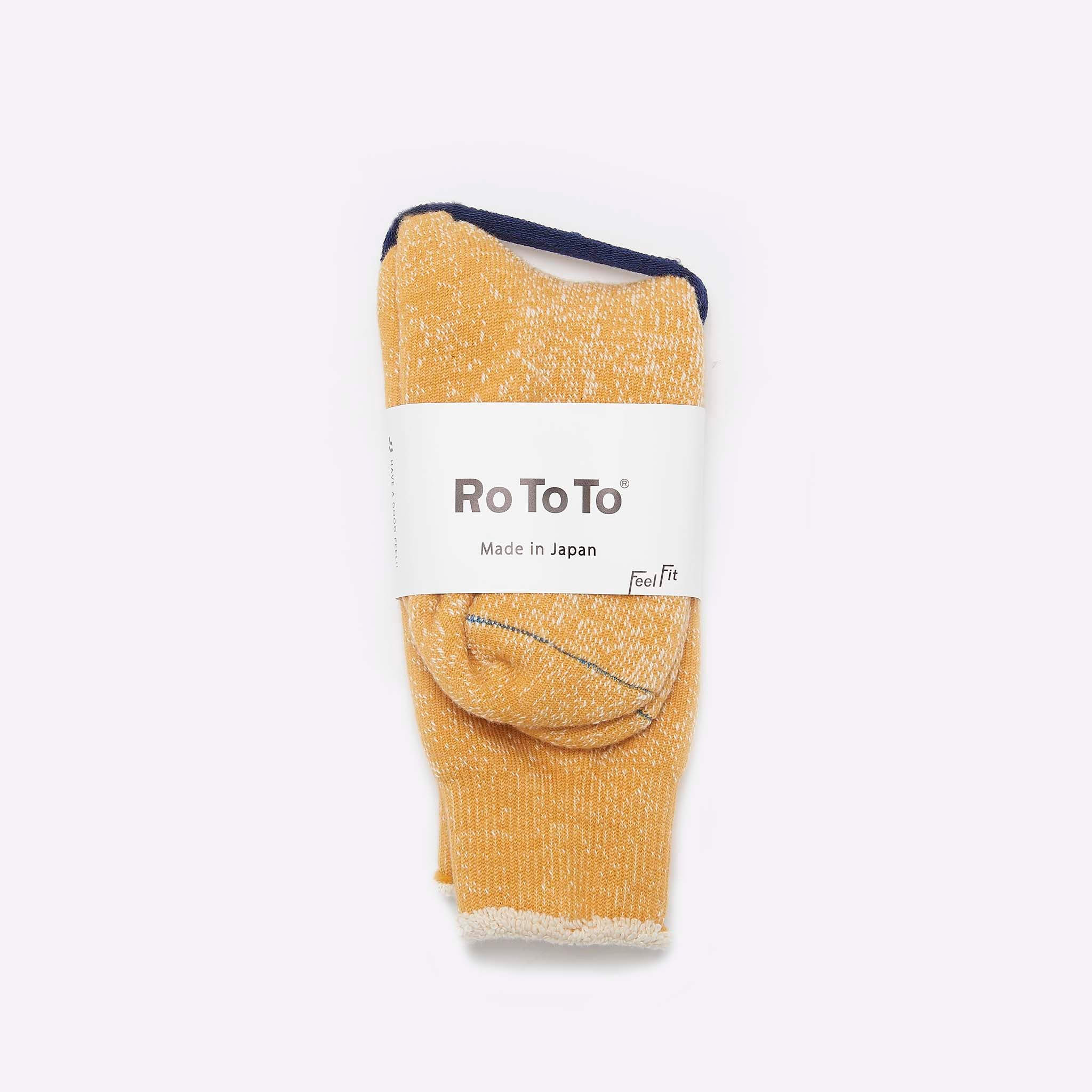 RoToTo Double Face Merino Socks Yellow