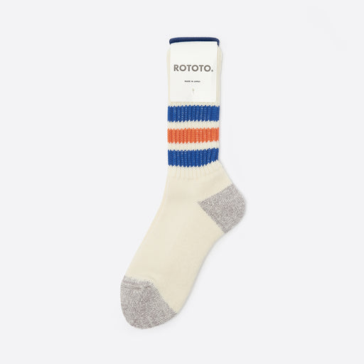 RoToTo Old School Socks in Blue/Orange
