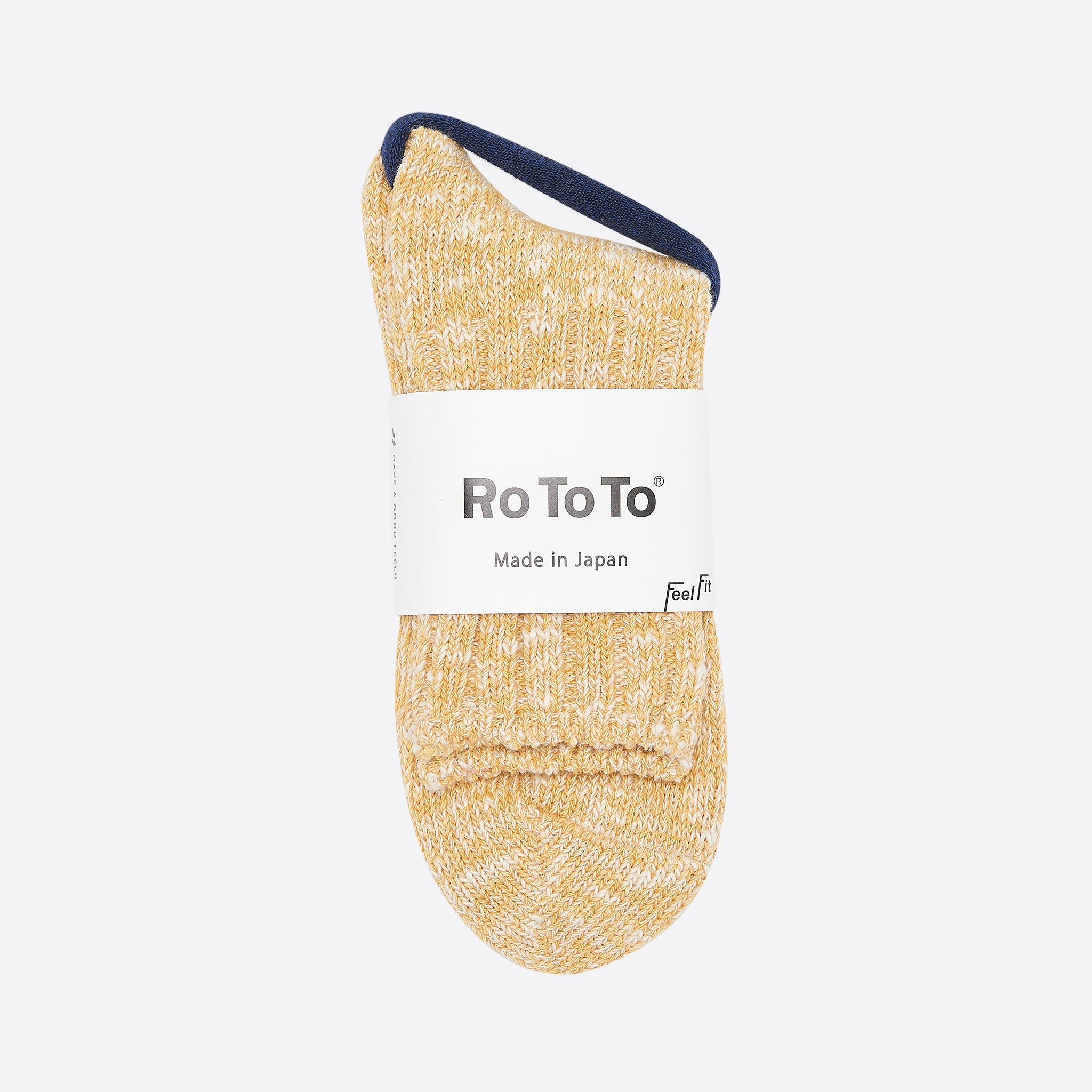 RoToTo Low Gauge Slub Socks in Yellow
