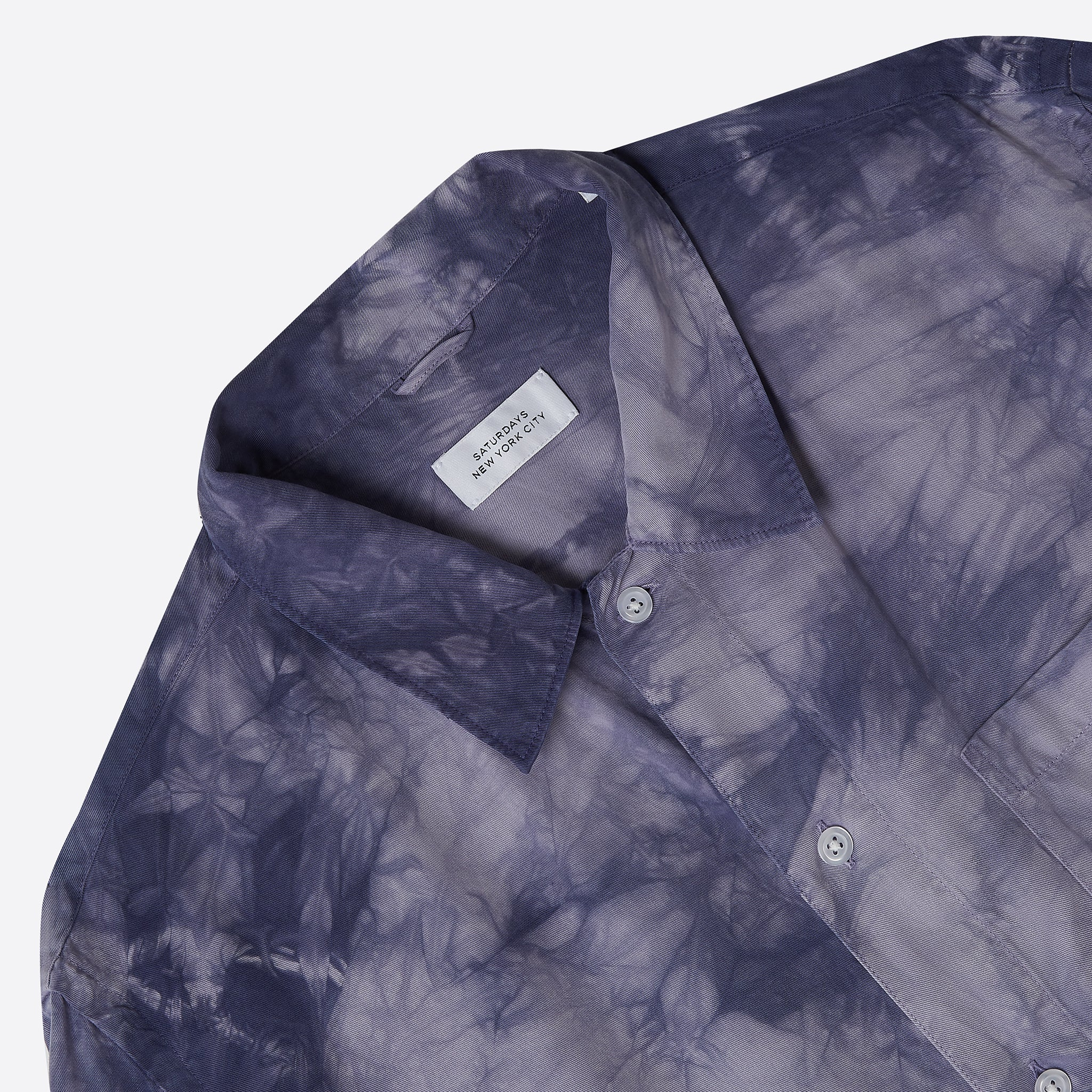 Saturdays NYC Alpons Mineral Wash Shirt in Stone Grey