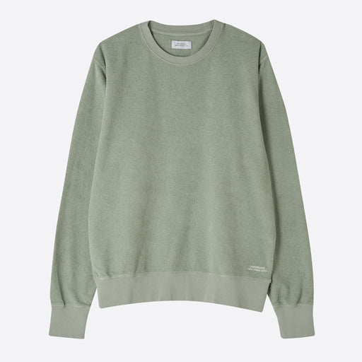 Saturdays NYC Bowery Terry Sweatshirt in Stone Green
