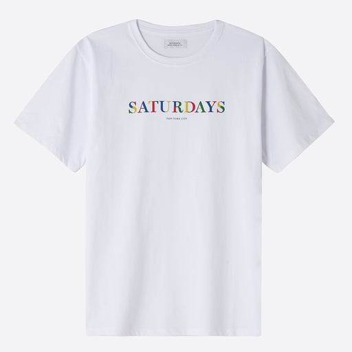 Saturdays NYC Colour Stencil Tee in White