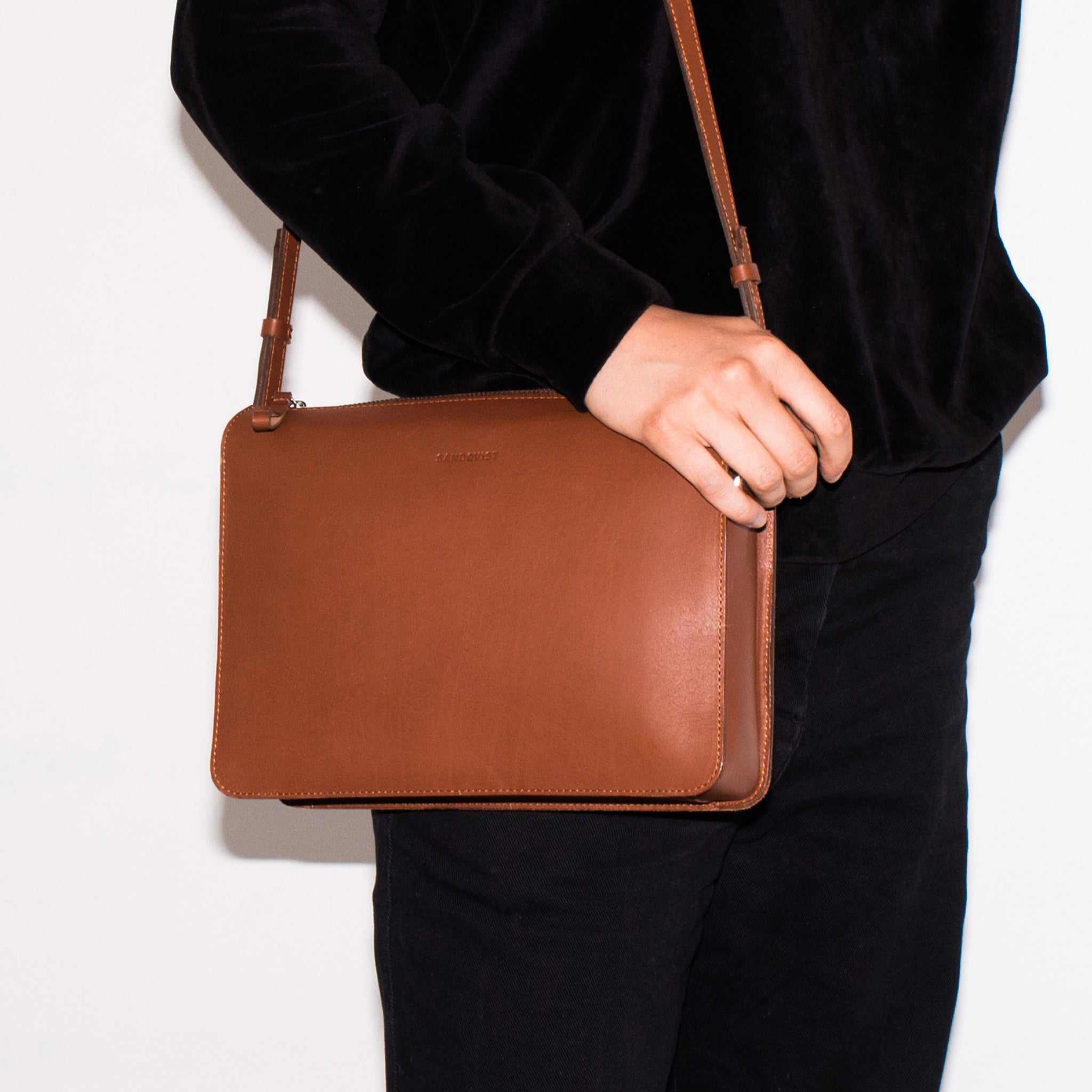 Sandqvist Franka Bag in Cognac Brown