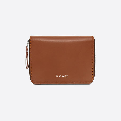 Sandqvist Amanda Wallet in Cognac Brown