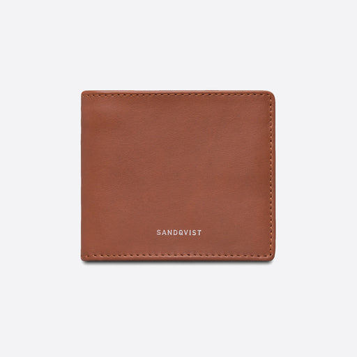 Sandqvist Manfred Wallet in Cognac Brown