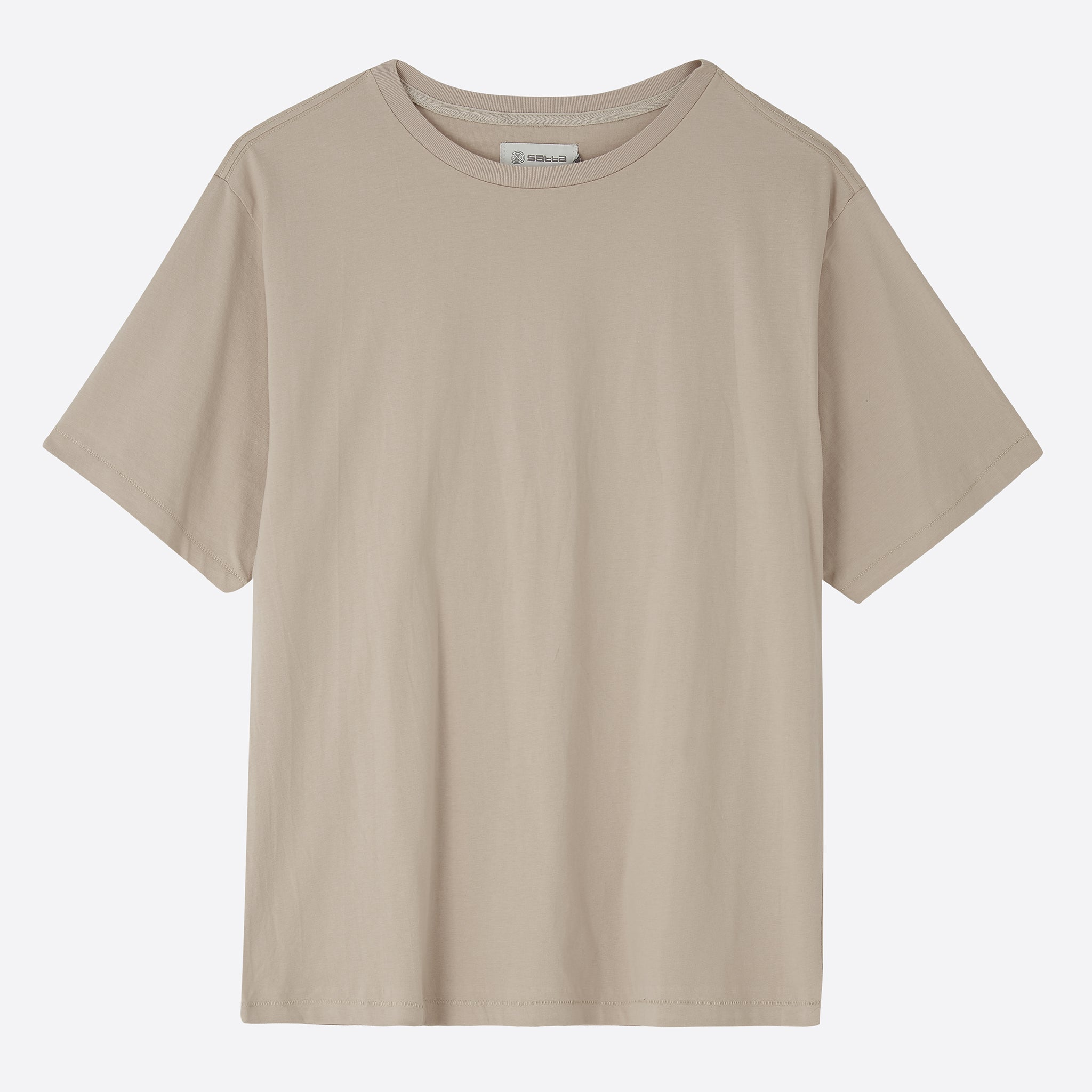 Satta Organic Cotton Tee in Stone
