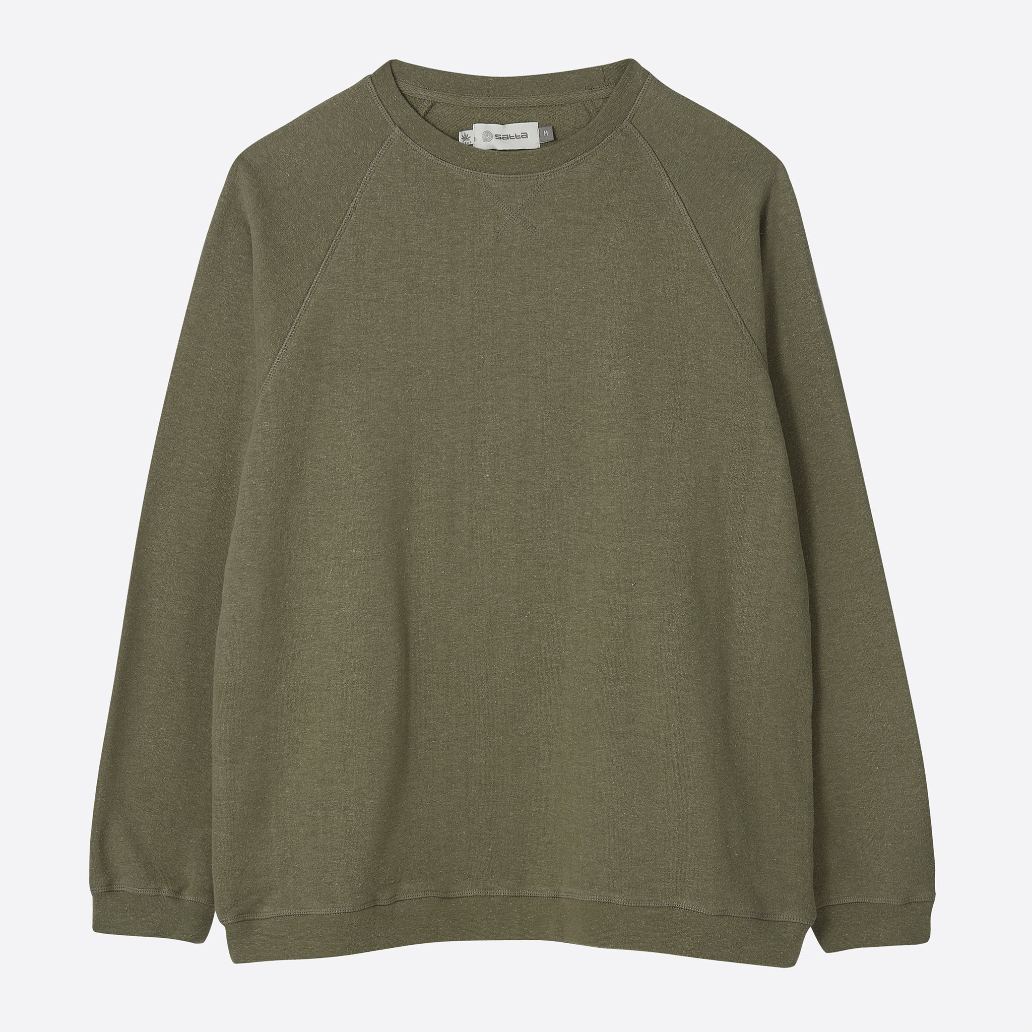 Satta Hemp Crew Sweat in Olive