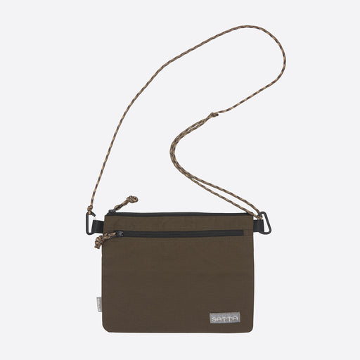 Satta Sacoche Sling Bag in Brown/ Grey