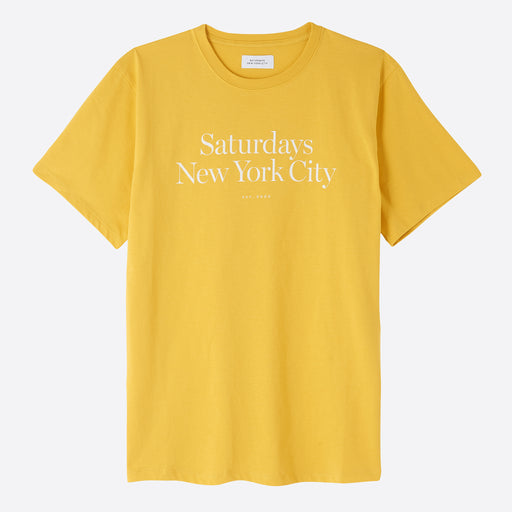 Saturdays NYC Miller Standard Tee in Goldenrod