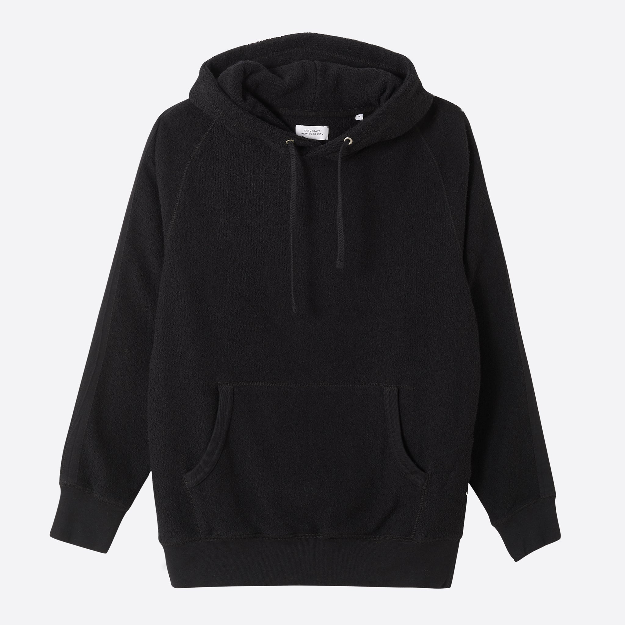Saturdays Nyc Ditch Tape Hooded Sweatshirt In Black Our Daily Edit