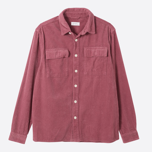 Saturdays NYC Magnus Heavy Cord Shirt in Light Plum