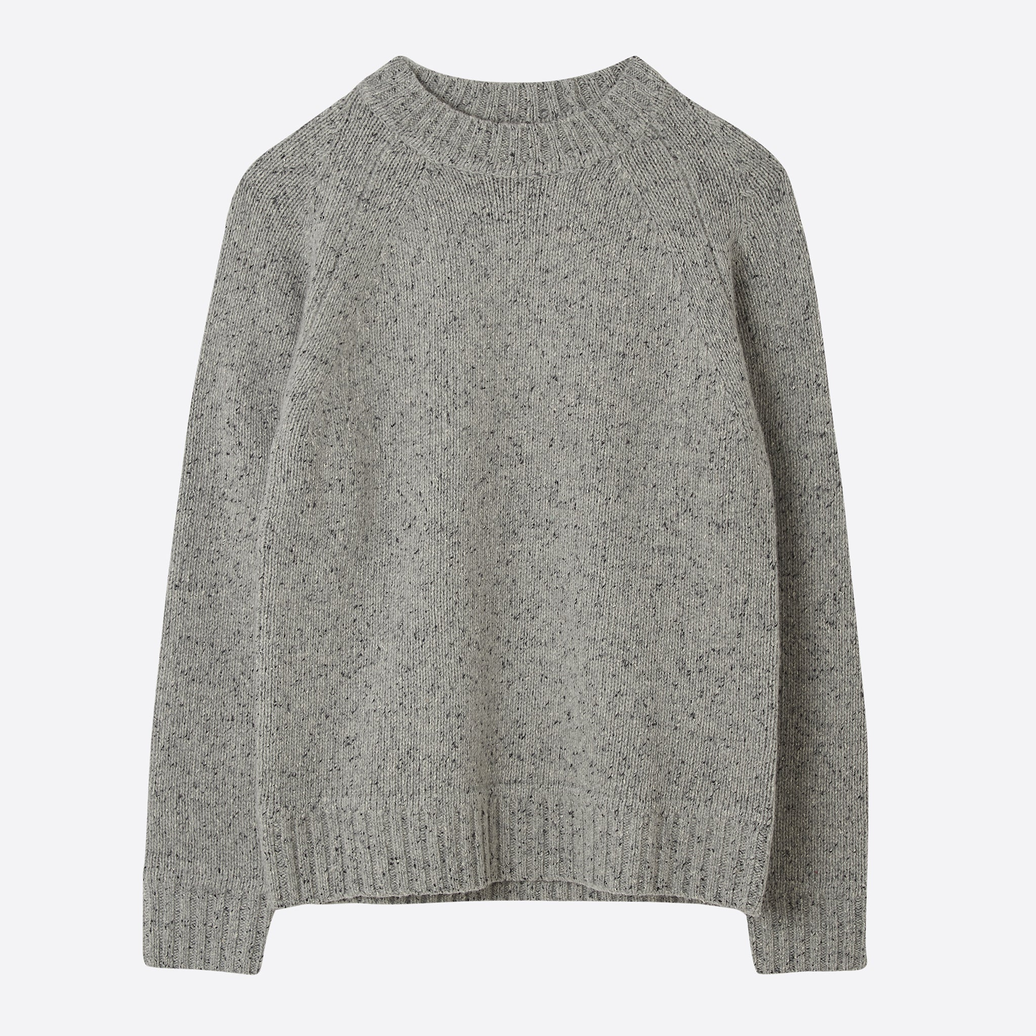 Saturdays NYC Miguel Speckles Sweater in Ash Heather