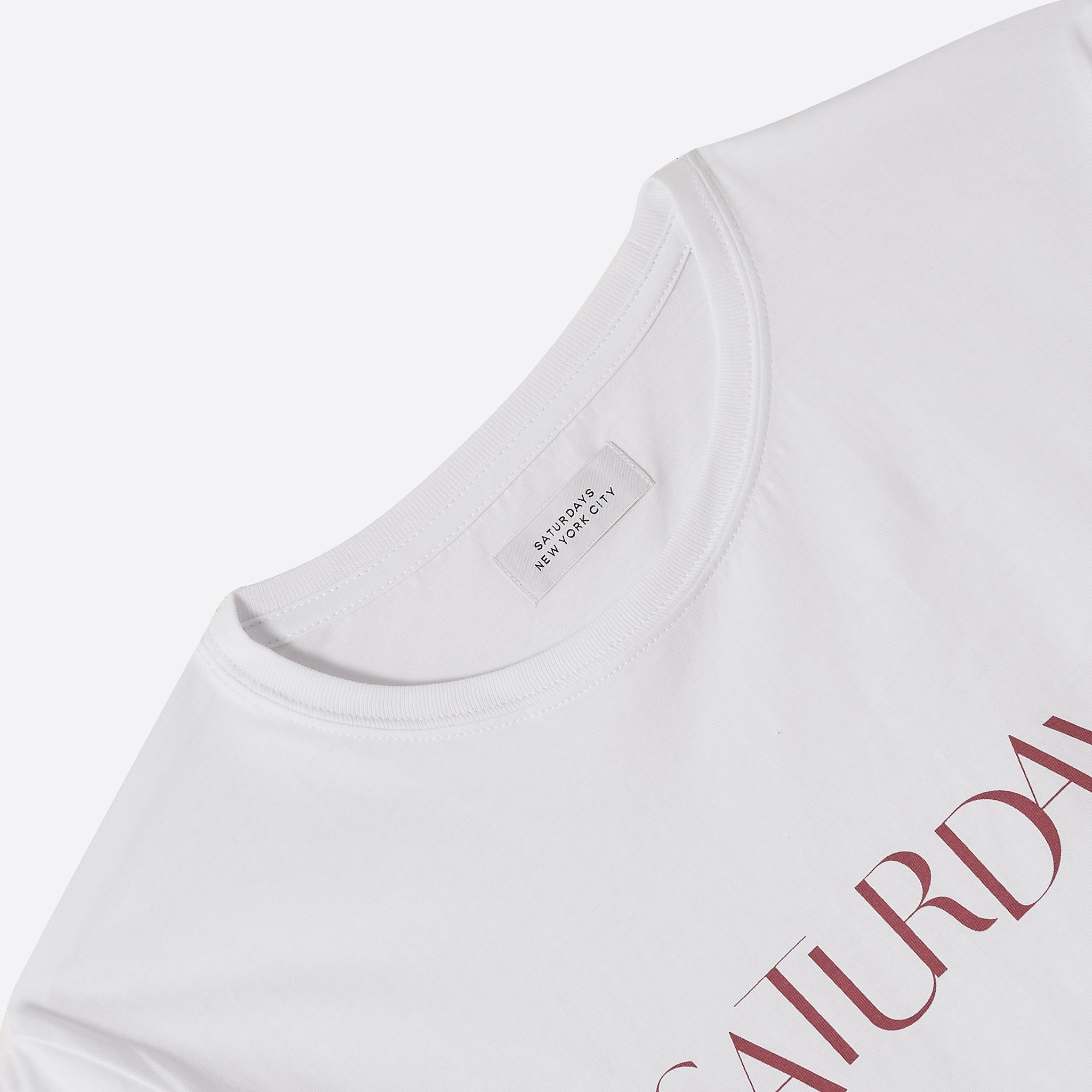 Saturdays NYC Miller Sans Tee in White