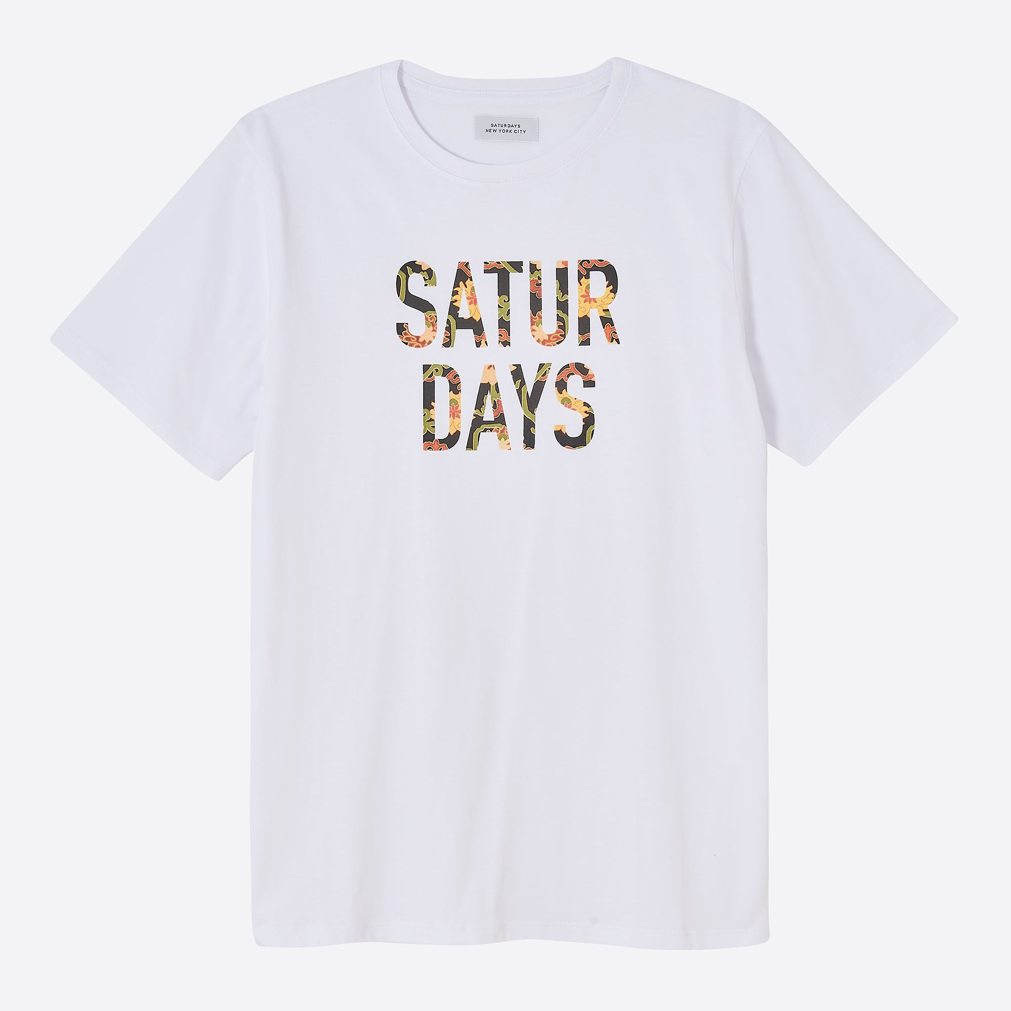 Saturdays NYC Peony Fill T-Shirt in White