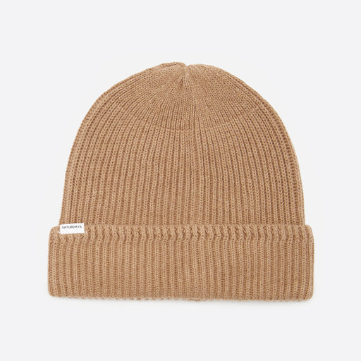 Saturdays NYC 1x1 Rib Beanie in British Khaki