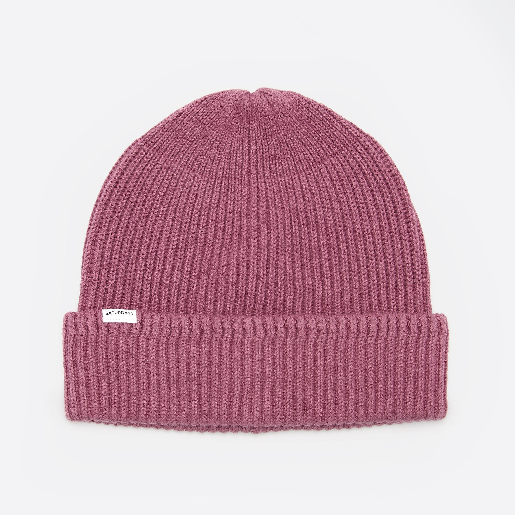 Saturdays NYC 1x1 Rib Beanie in Light Plum
