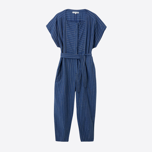 Sideline Eclipse Jumpsuit in Indigo Stripe