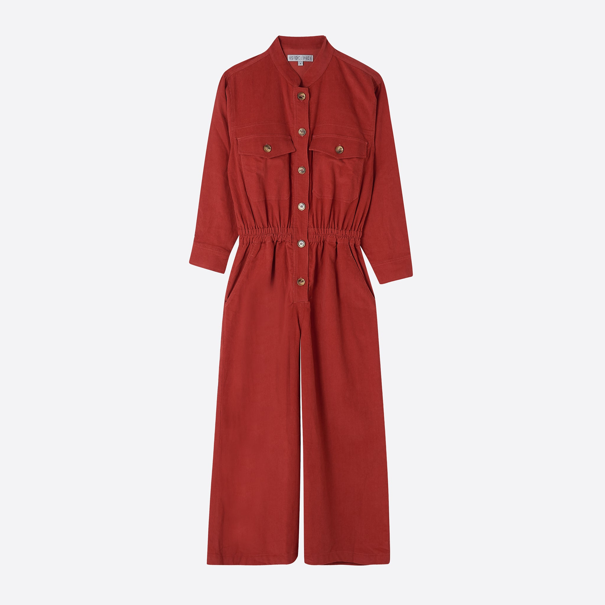 Sideline Frankie Jumpsuit in Red Cord