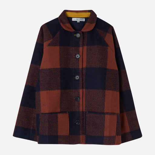 Sideline Pipin Coat in Check