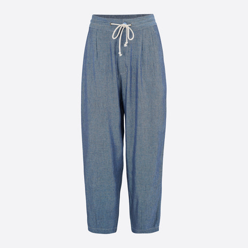 Sideline Fade Trousers in Mixed Denim