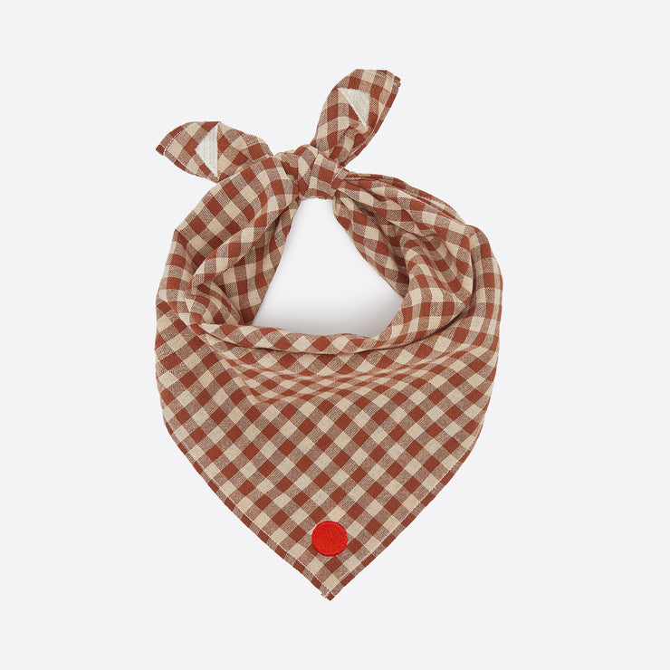 Sideline Artist Neckerchief in Brown Check
