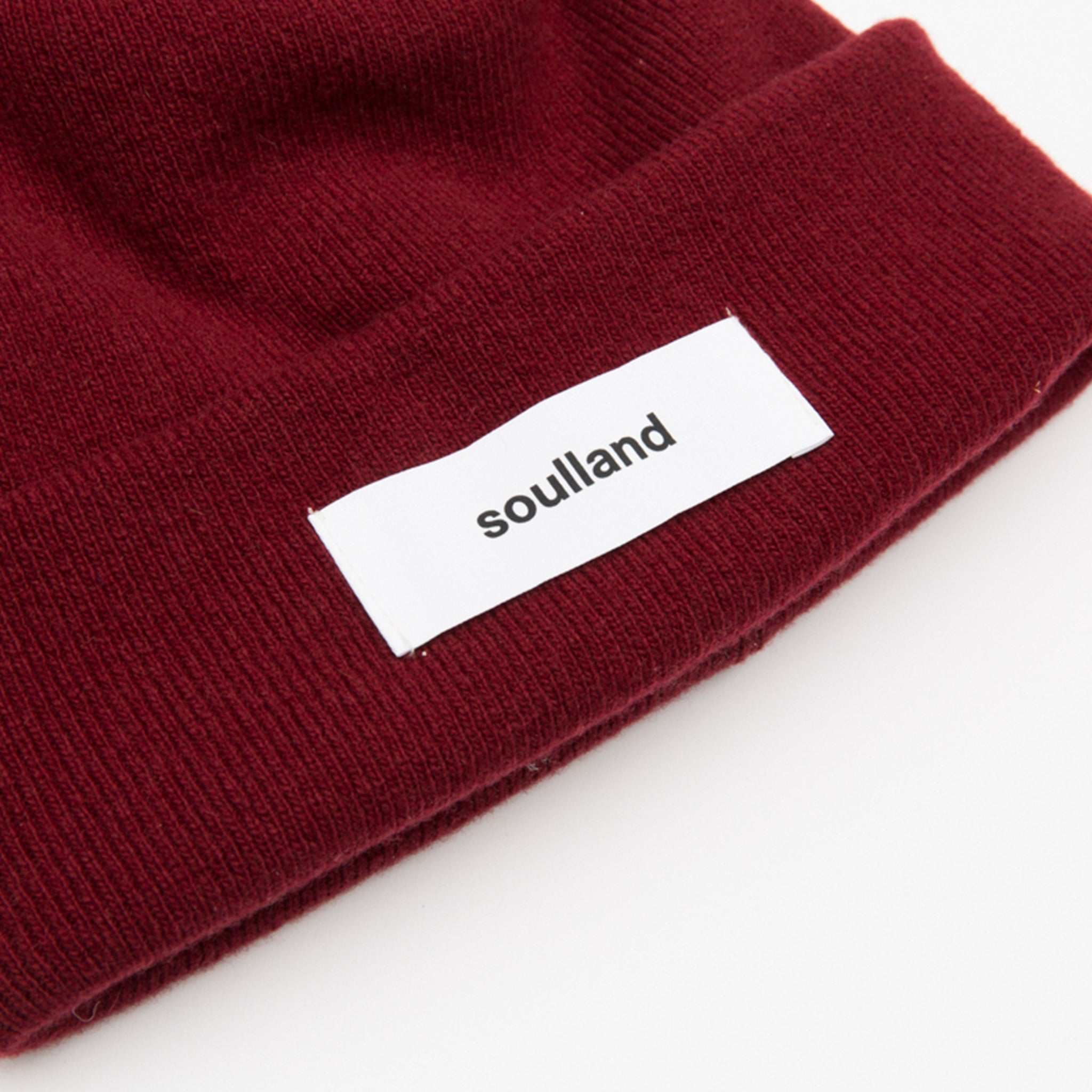 Soulland Villy Beanie in Burgundy