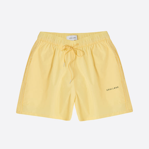 Soulland William Swim Shorts in Yellow