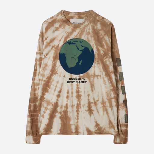 STORY Mfg Grateful Long Sleeve Tee in Mother Earth Bark Ripple
