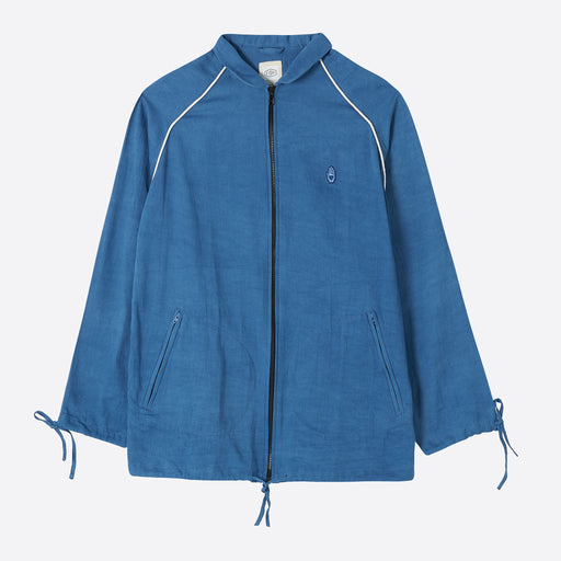 STORY mfg Todash Track Jacket - Natural Indigo Sateen
