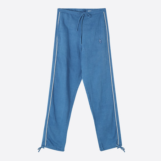 STORY mfg Todash Track Pant - Natural Indigo Sateen