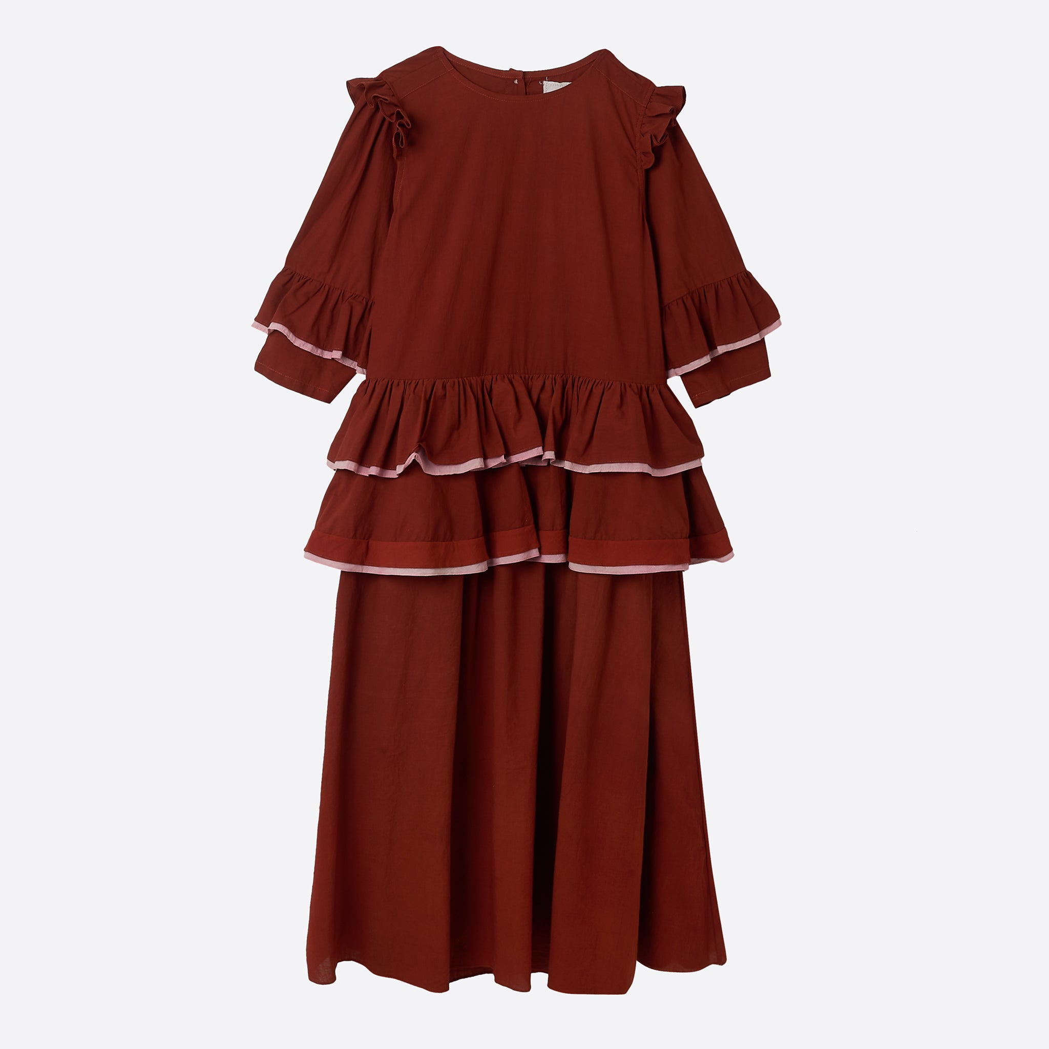 Story MFG Tulsi Dress in Two-Tone Rose Madder