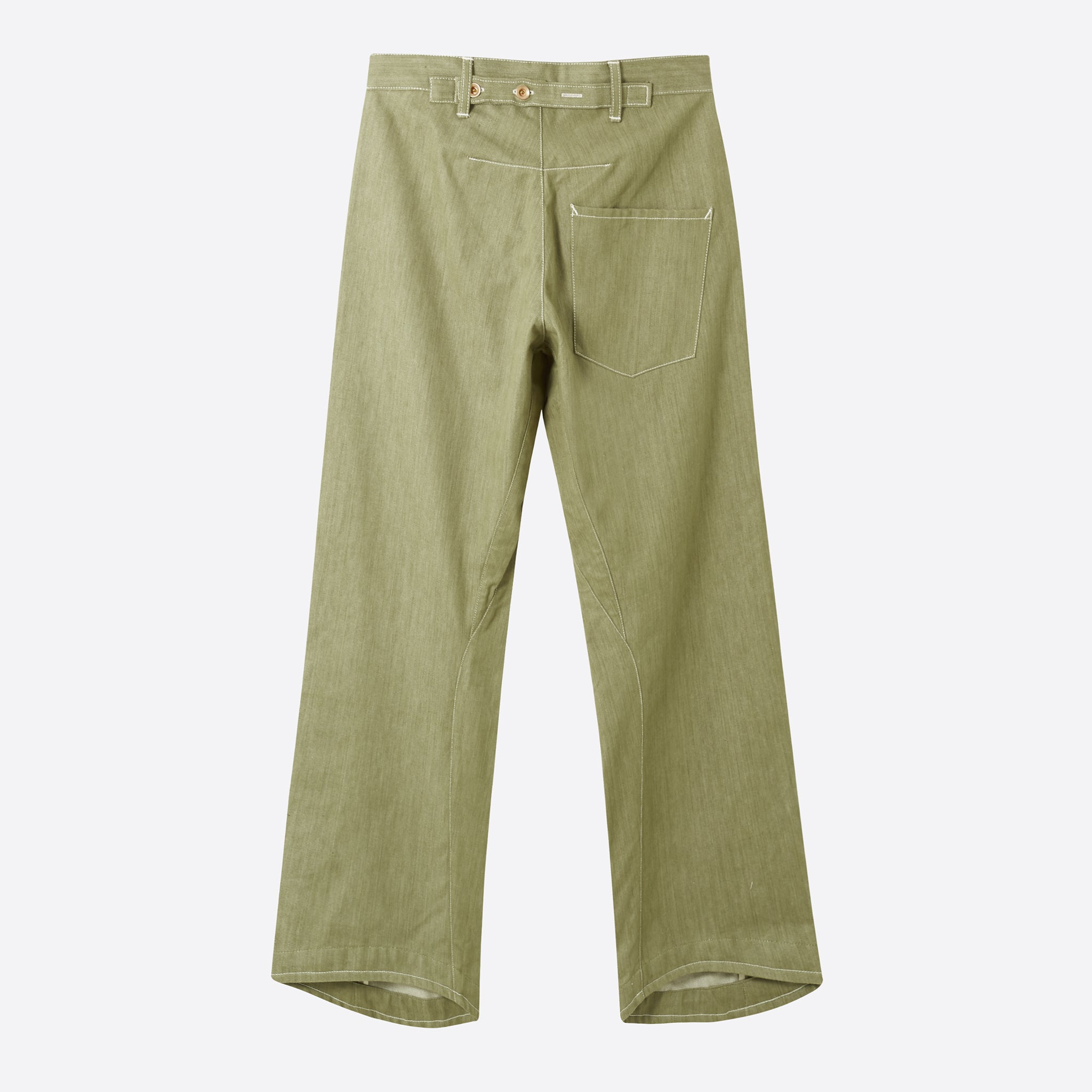 STORY Mfg Twisty Boy Jeans in Khaki Selvedge Denim
