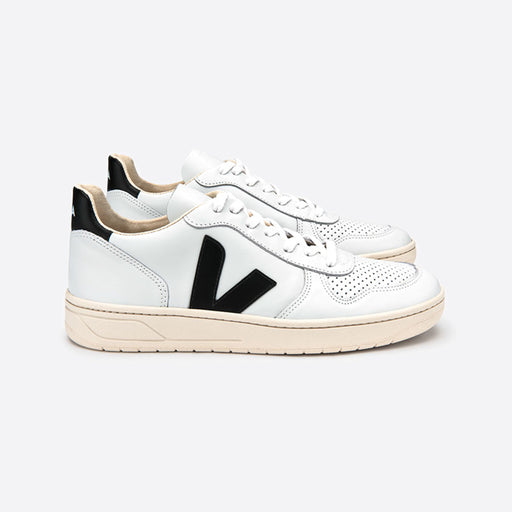 Veja V-10 Leather Extra White Black