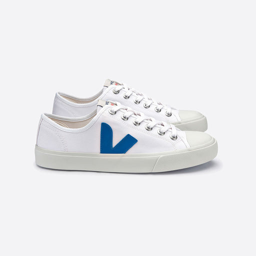 Veja Wata Canvas White Swedish Blue