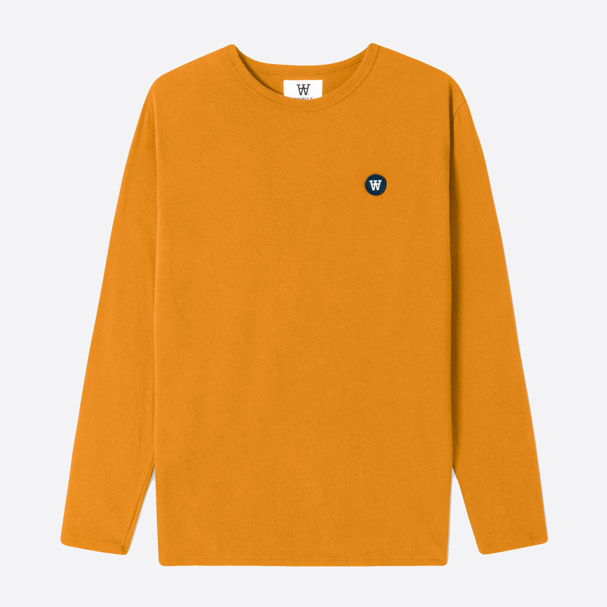 Wood Wood Double A Mel Long Sleeve T-Shirt in Dark Orange