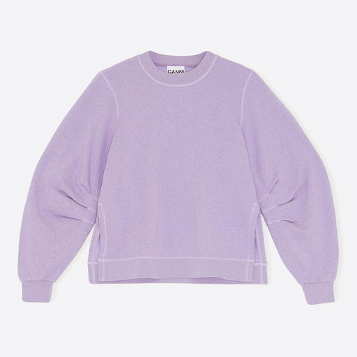 Ganni Isoli Sweatshirt in Violet Tulip