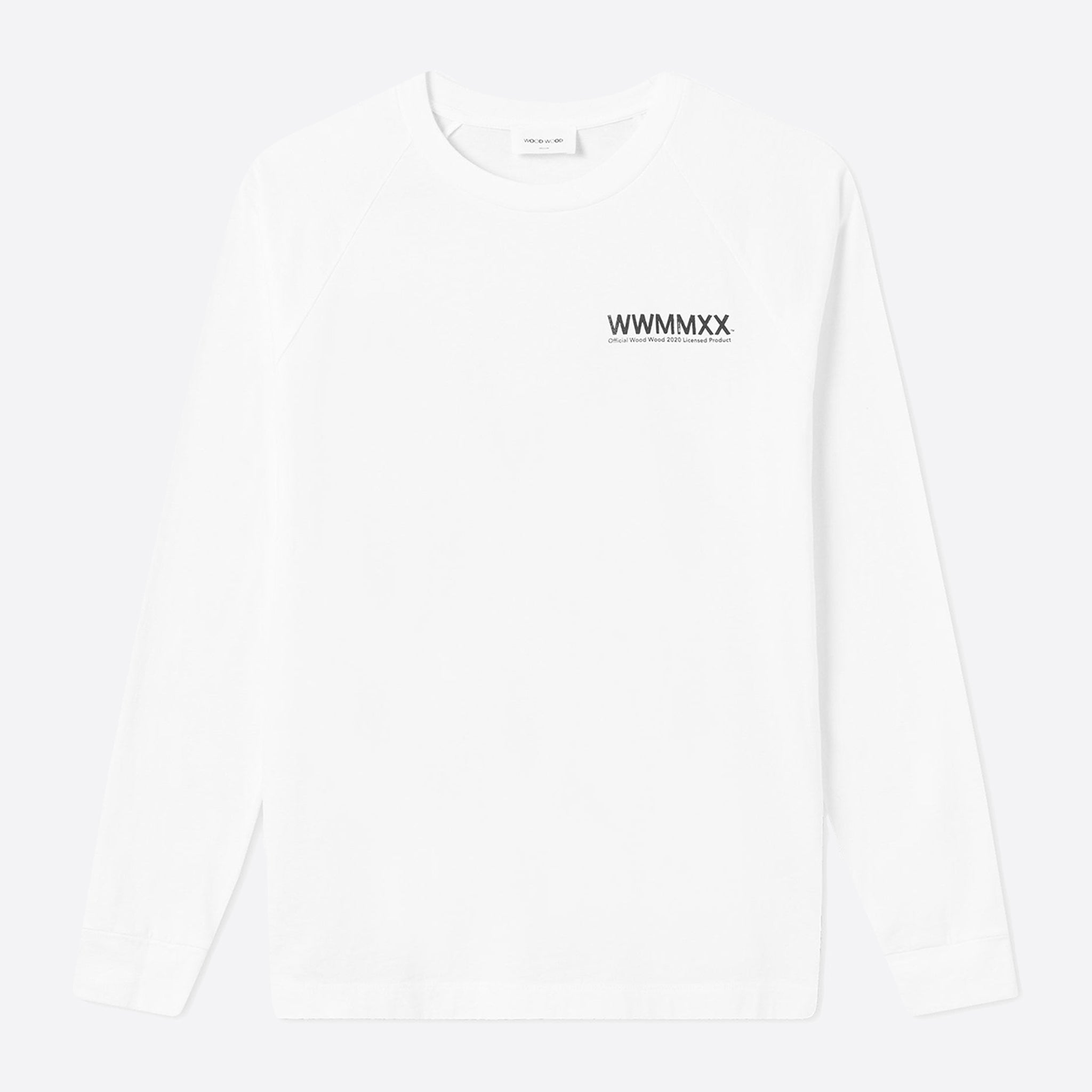Wood Wood Han Long Sleeve T-Shirt in Bright White