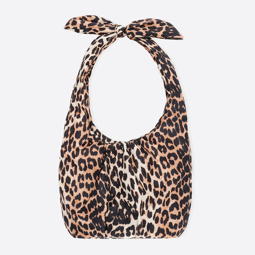 Ganni Padded Tech Fabric Tote in Leopard