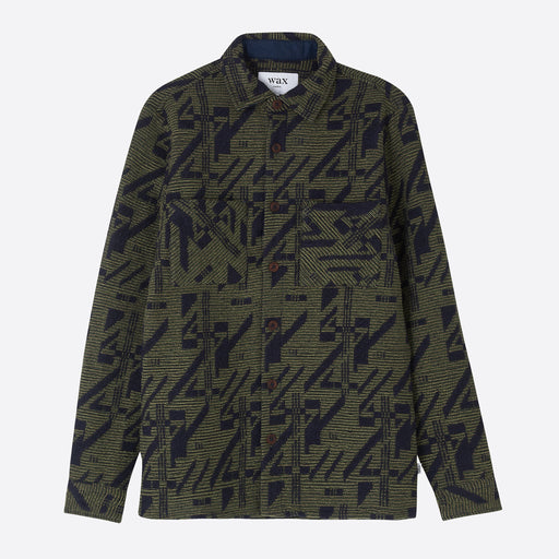 Wax London Whiting Shirt in Geometric Camouflage