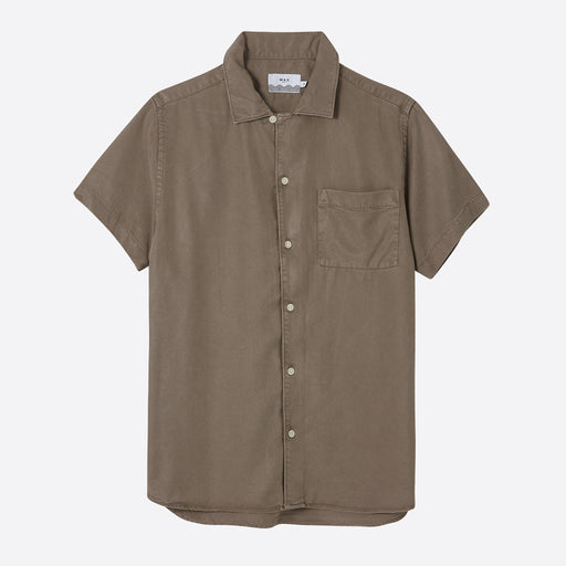 Wax London Fazely Short Sleeve Shirt in Sand