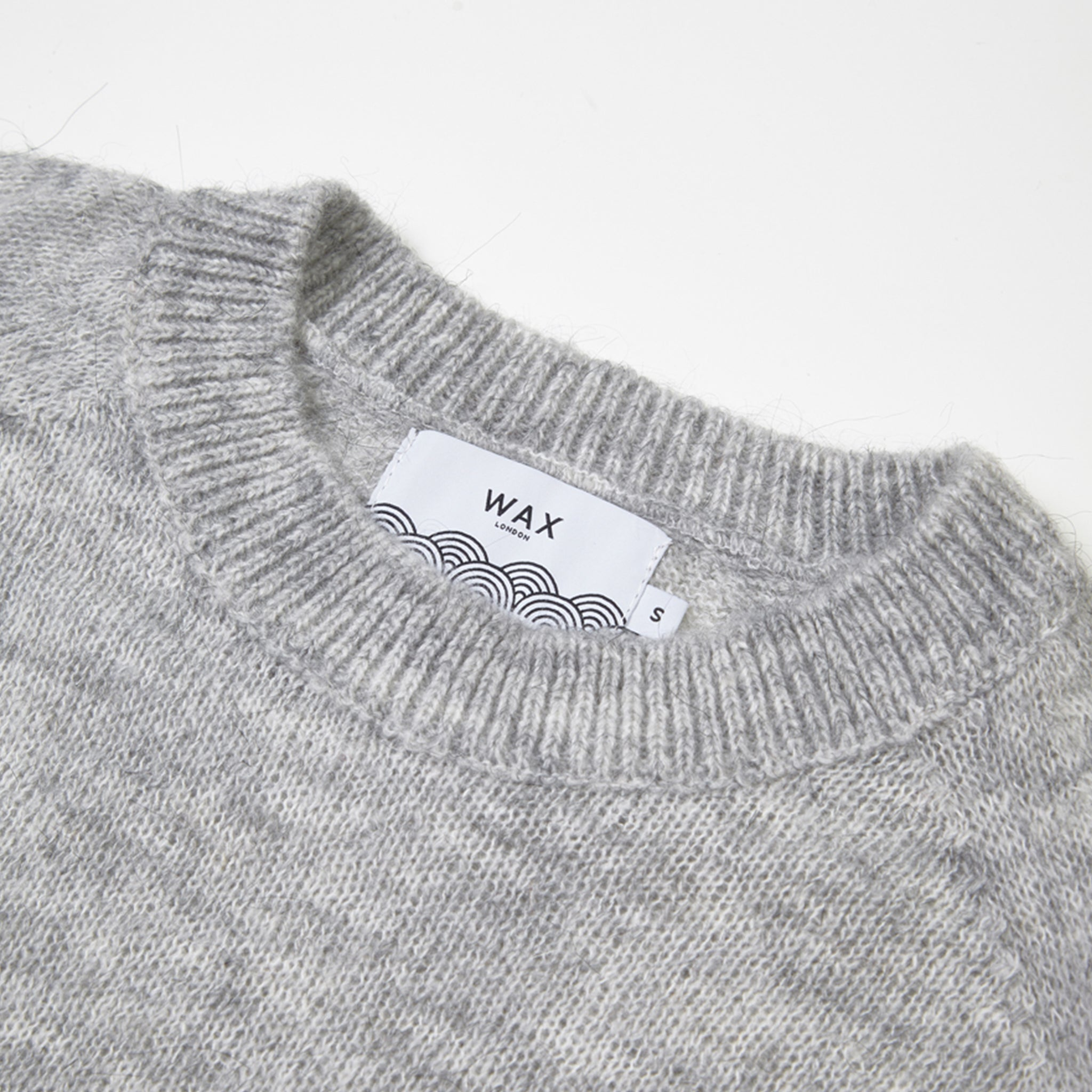 Wax London Alp Knitted Jumper in Grey
