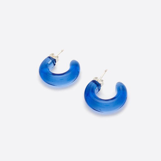 Wolf Circus Small Glass Hoops in Blue