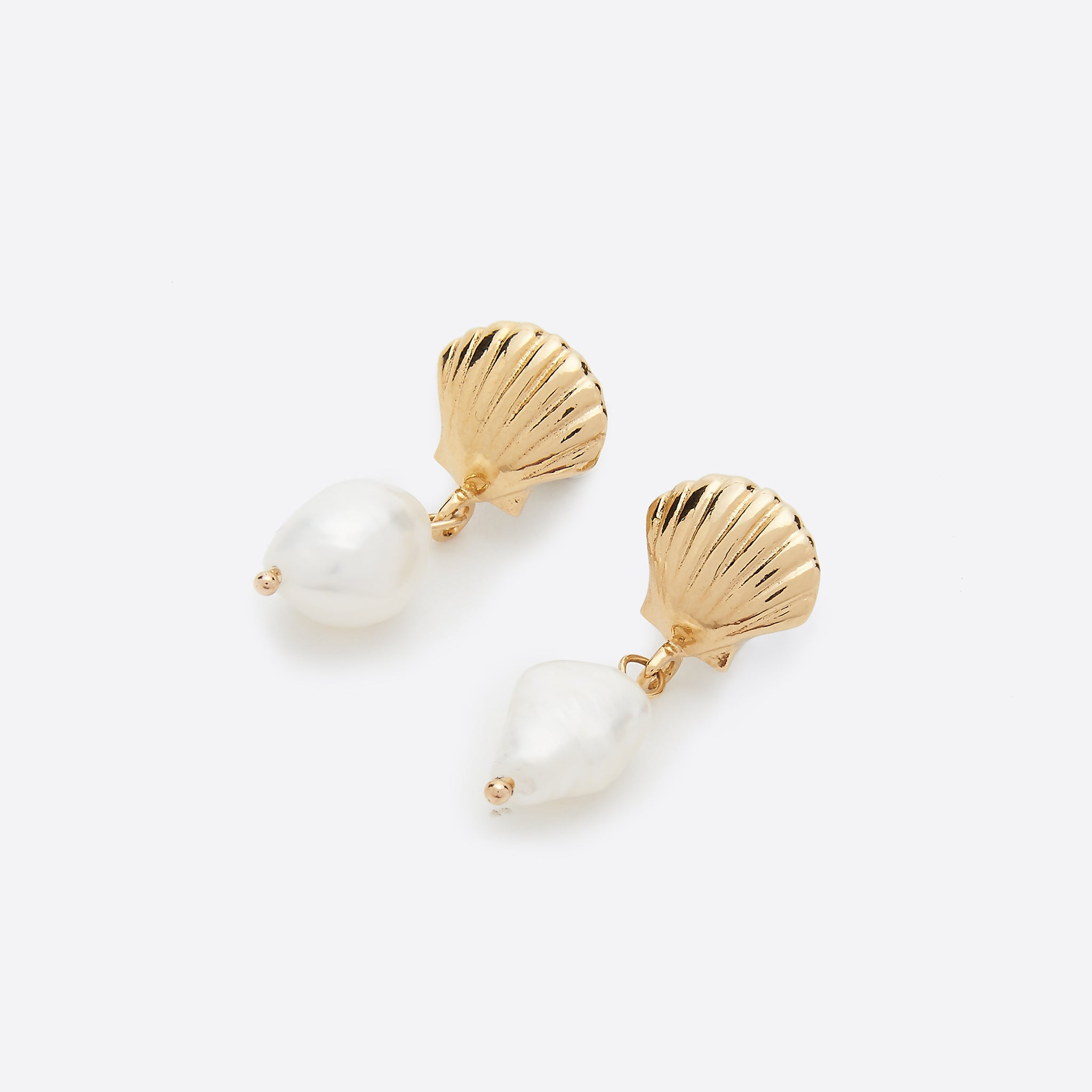 Wolf Circus Marcel Shell and Pearl Earrings in Gold
