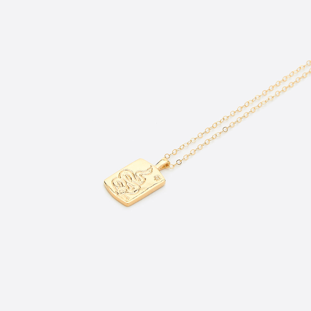 Wolf Circus Ophidian Necklace in Gold